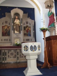 Baptismal font at St. John's